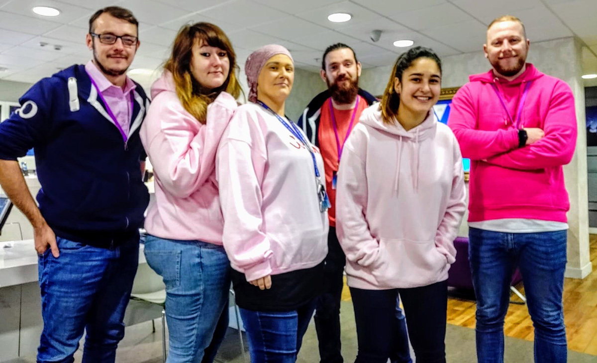 Pink Event day at the O2 Store in the Merrion Centre