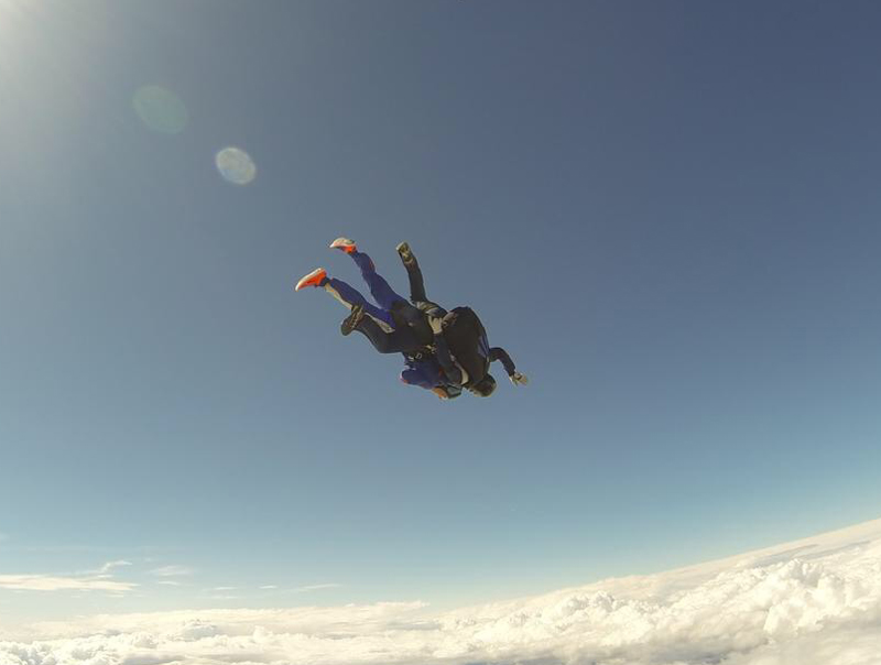 Arran and Dale skydive