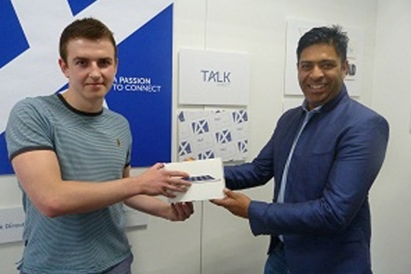 Student designs new logo for Talk Direct